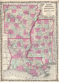 Maps Of Louisiana by File 1862 Johnson Map Of Louisiana Mississippi And Arkansas