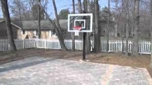 Building A Backyard Basketball Court Brick Paver Backyard Basketball Court Youtube