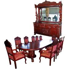 7203 r j horner 15 pc winged griffin carved mahogany dining room