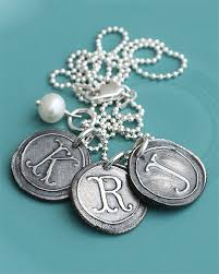 vintage silver charms necklace rts