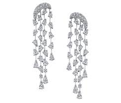 amy amethyst 18ct white gold cascade earrings in 18k white gold with diamonds by butani price