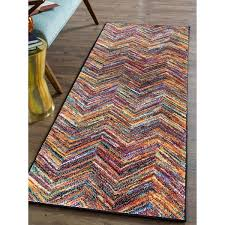 Chevron Runner Rug Alise Rhapsody Contemporary Chevron Runner Rug 2 7 X 7 3
