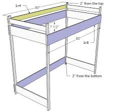 Loft Bed Plans Free Full by 986 Best Build A Bunk Bed Plans Pdf Download Images On Pinterest