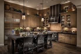 dark colored cabinets in kitchen built in single bowl sink floor