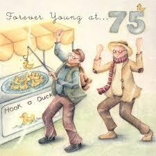 a happy 75th birthday card for a man