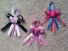 baby shower pins without the pacifier and maybe add more ribbon baby shower