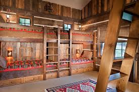 High End Bunk Beds High End Bunk Beds Rustic With American Indian Prints Area