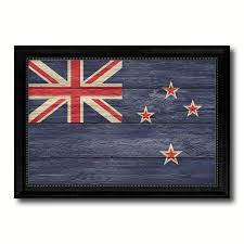 new zealand country texture flag rustic vintage giclée print home