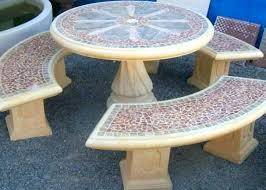 Concrete Patio Table Cement Garden Table And Benches Concrete Patio Table And Benches