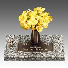 Graveside Flower Vases Infant U0026 Children Bronze Headstones And Grave Marker Stone