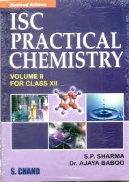 isc practical chemistry vol ii for class xii 01 edition buy isc