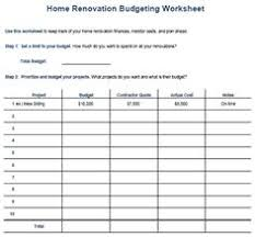 renovations budget template bathroom remodel costs worksheet nick pinterest worksheets