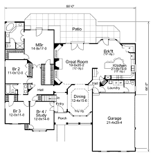 traditional style house plan 4 beds 2 50 baths 2547 sq ft plan