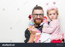 man holding martini hipster beard guy little baby stock photo 556718983