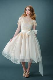 tea length wedding dresses uk femmes fatale and fancies tinted lace and tea length