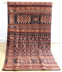 Ikat Home Decor Fabric by Hand Woven Ikat Sarong From Sikka Village Flores With Handspun