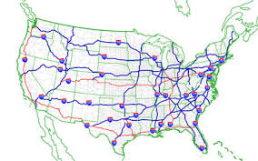 map us interstate system national highway system united states national highway
