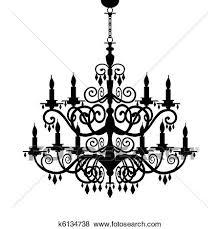 Baroque Chandelier Clip Of Baroque Chandelier Silhouette K6134738 Search