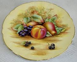 beautiful aynsley china orchard gold 10 5 plate lovely fruit