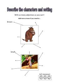 the gruffalo describe the characters activity by kayld teaching