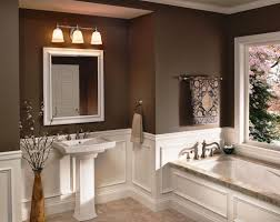 bathroom cabinets white wall paint granite countertop mirror