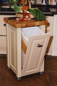 kitchen island with trash bin tremendous rustic kitchen islands on wheels with pull out trash