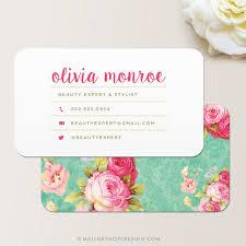 floral business card vintage floral business card mallory design