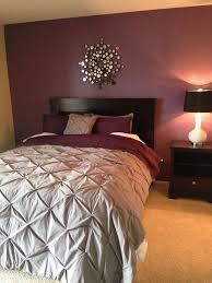 grey and maroon bedroom home design