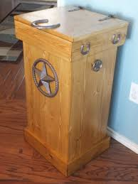 wooden trash can with lid wood trash can etsy house decorating