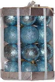 amazon com 28 count glitter u0026 sequin christmas ornaments set ice