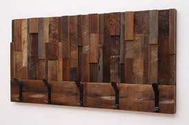 custom made reclaimed wood art coat rack 36x18 5x4 by