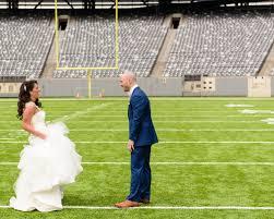 ny giants staffers married in metlife stadium wedding album