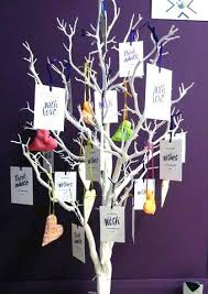 wishing tree 40 wishing tree tags alternative guest book inspired by script