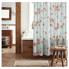 Threshold Ombre Shower Curtain Threshold Floral And Birds Shower Curtain Blue Target