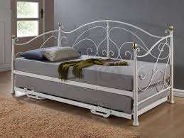 furniture classic daybed with trundle in pure grey mattress white