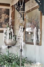 Adding Crystals To Chandelier Creative Country Mom Lace And Bling On My Wire Lampshade