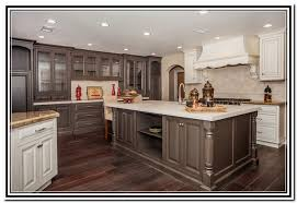 Two Tone Cabinets In Kitchen Two Tone Cabinets In A Galley Kitchen Home Design Ideas