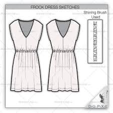 frock dress sketch template u2013 illustrator stuff