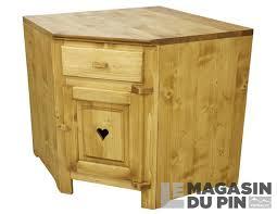 meuble bas d angle cuisine meuble bas d angle 1 porte cuisine chamonix en pin massif le magasin