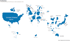 World Map Countries Map Countries Scaled To Equity Market Capitalization Business
