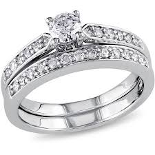 bridal ring set miabella 1 2 carat t w diamond sterling silver bridal ring set
