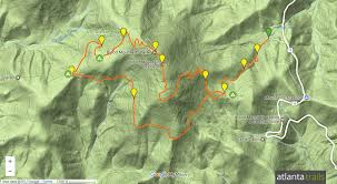 Atlanta Bypass Map by Blood Mountain Loop Hiking The Appalachian Trail U0026 Freeman Trail