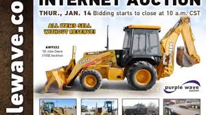 construction equipment auction january 14 2016 purple wave