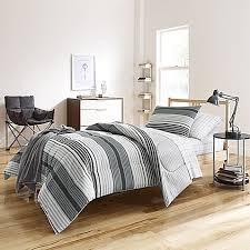 Bed Bath And Beyond Nightstand Kyle Dorm Comforter Kit In Grey Bed Bath U0026 Beyond