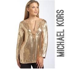 michael kors blouses 47 michael kors tops michael kors gold sequin tunic