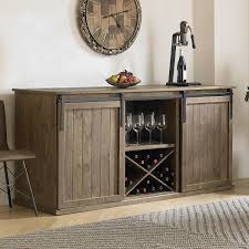 Wall Mounted Credenza Mesa Sliding Barn Door Credenza Wine Enthusiast