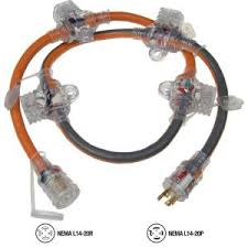 ridgid 5 ft 12 4 in line multi outlet generator cord 615 16456hdr
