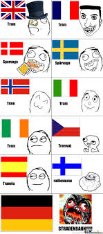 Language Meme - tram in different languages by emiltc meme center