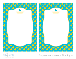 rubber duckie free printable baby shower invitation template