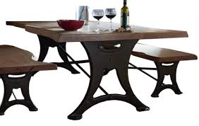 home trends u0026 design organic forge dining table 80